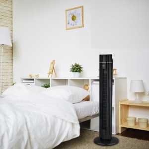 Zilan Turmventilator mit Fernbedienung LED-Display 3...