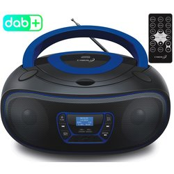 Cyberlux tragbarer CD-Player Boombox mit DAB+ in blau