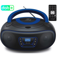 Cyberlux CD-Player DAB+ CD/MP3 USB AUX IN Fernbedienung Blau