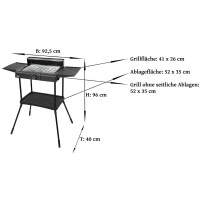 2in1 Standgrill Elektrogrill Tischgrill Partygrill